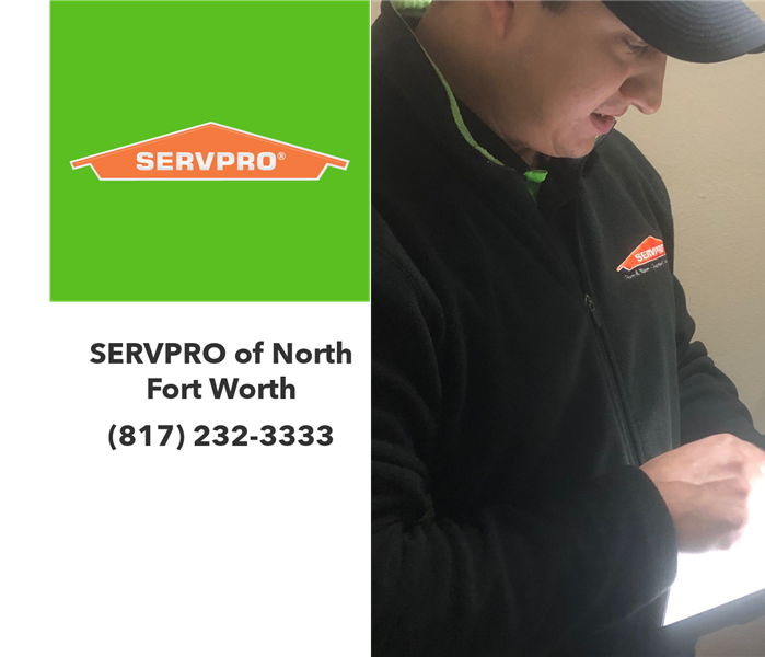 Technician creating contents inventory list on an iPad.